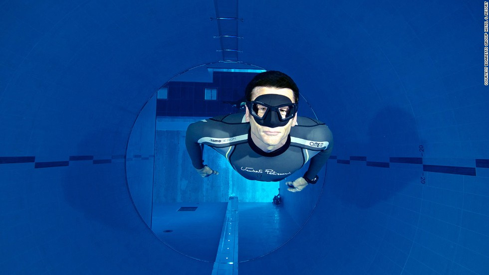 The Y-40 Deep Joy, the world's deepest swimming pool, sinks to a depth of 42 meters.