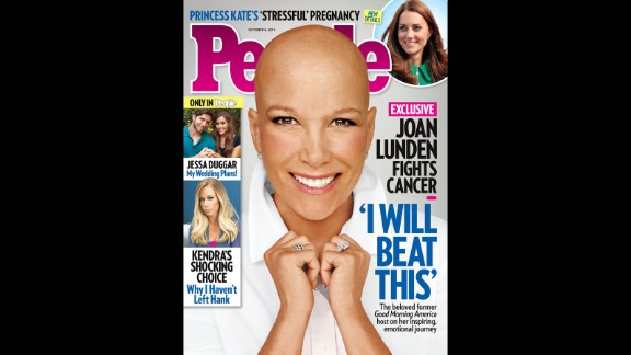 "When former ""Good Morning America"" host Joan Lunden learned she was facing an ""aggressive"" form of breast cancer, she was determined to face her health battle head on. Knowing she would need chemotherapy, Lunden decided to remove her familiar blond hair before her locks could be affected by the treatment. ""You know it's going to happen one of these days and you are wondering how or when,"" Lunden explained to People magazine, which she posed for without her wig in September. ""So I just owned it."""