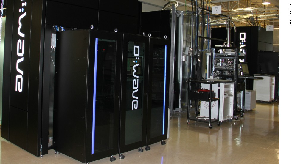 The exterior of D-Wave's quantum computing machine, based in the company's lab. The machine keeps the quantum chip at exactly the right temperature, just above absolute zero. Quantum computing could ultimately far outpace today's fastest supercomputers, at least for certain types of calculation.