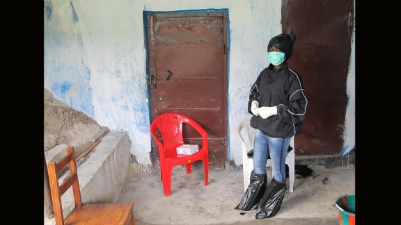 Her trash bag protection method is being taught to others in West Africa who can't get personal protective equipment.