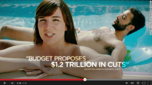 An ad for a congressional candidate appears to feature naked people.