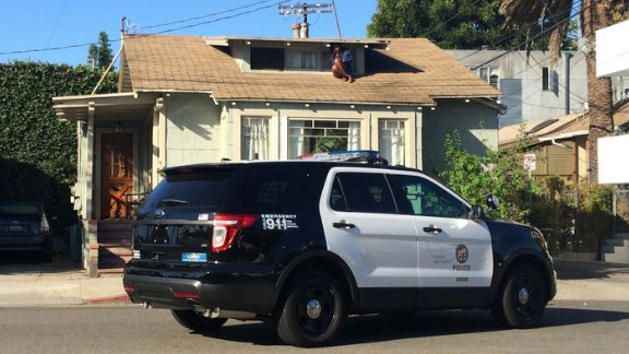 Melora Rivera was home alone when she heard someone kicking down the door to her Venice, California, home, according to Los Angeles police.