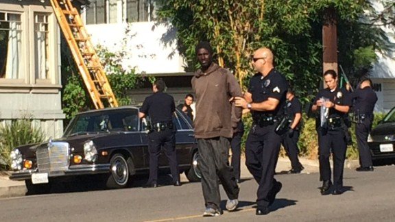 According to the LAPD, Christian Hicks, 29, has been charged with burglary.