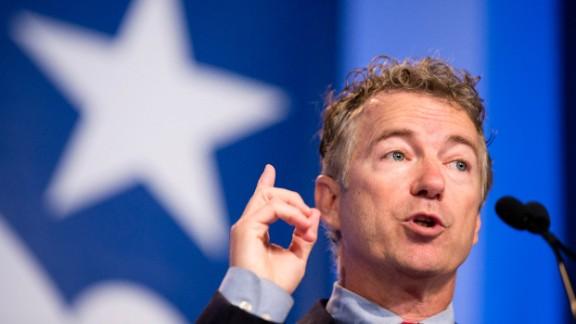 Sen. Rand Paul, R-Kentucky, speaks at the Values Voter Summit in Washington .