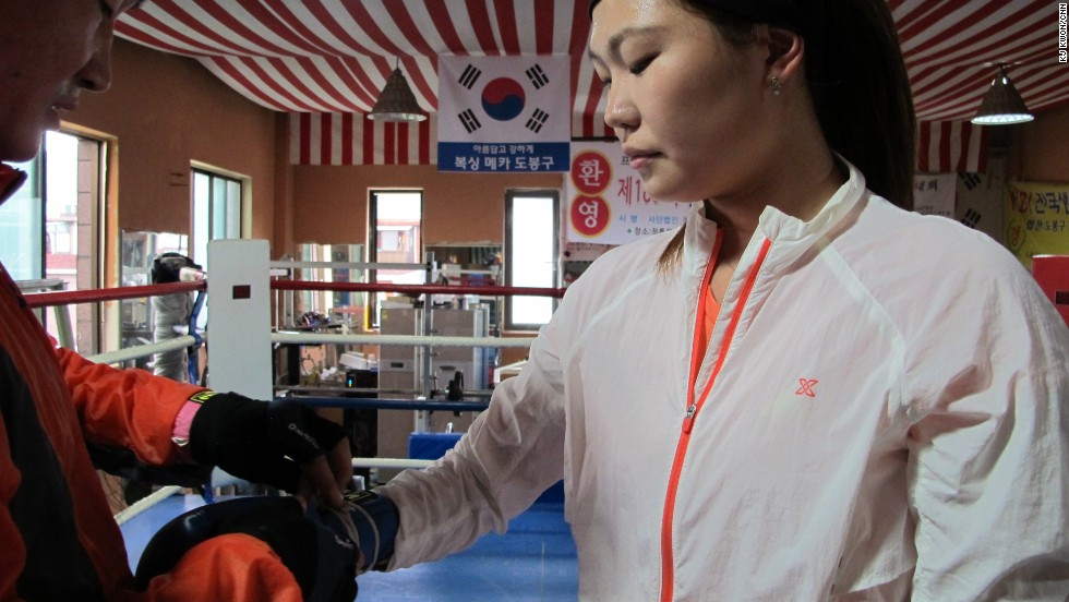 Choi said her rivals in North Korea fought to win extra food and money. She said she fought to win as her father was a relatively wealthy businessman in Pyongyang.