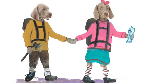 """Dogs, mainly Weimaraners, have been persistent muses in William Wegman's artwork, and his latest picture book """"Flo & Wendell Explore"""" is no exception. Click through the gallery for more examples of how dogs have made their mark on Wegman's career."""