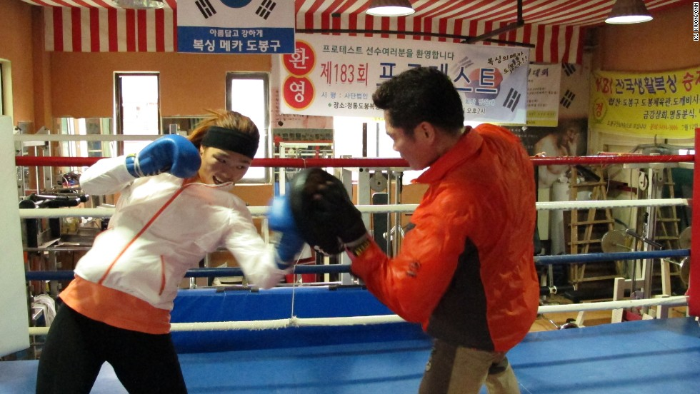 She says while South Korean boxers may have the upper hand in technique, North Korea emphasizes athletes' mental strength.