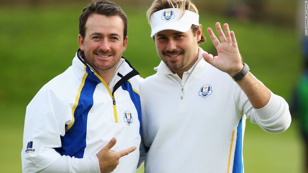Rookie Victor Dubuisson and Graeme McDowell were once again on song for Europe in the afternoon fourballs beating Jimmy Walker and Rickie Fowler 5&4.