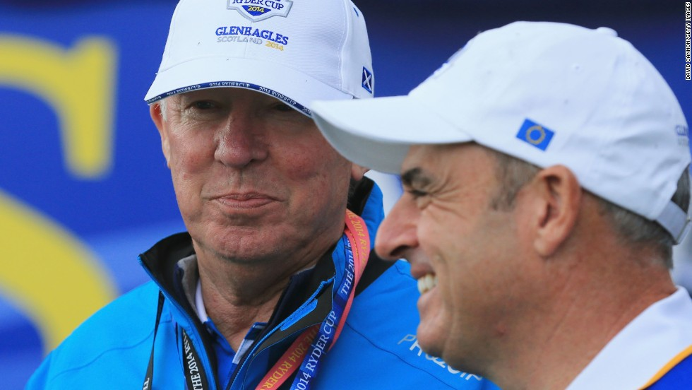European captain Paul McGinley turned to former Manchester United manager Alex Ferguson -- a man who knows all about winning -- to give his team a pep talk ahead of the Ryder Cup at Gleneagles.