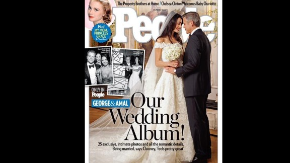 De la Renta even made his stamp among brides. Most recently, he designed the wedding gown worn by George Clooney's bride, Amal Alamuddin.