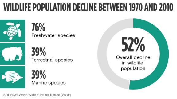 Wildlife population decline