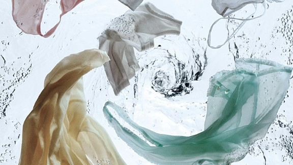 Clothes in water