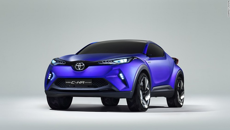 "Toyota's C-HR Concept hybrid-powered compact crossover ""gives an early hint of the kind of vehicle Toyota would like to bring to market."""