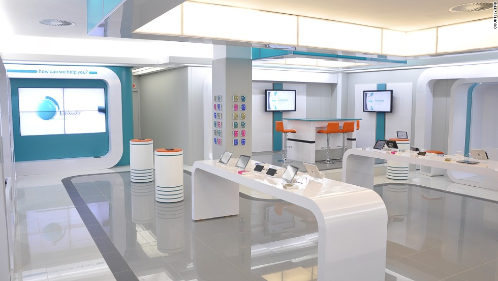 The Glossy Interior Of The Flagship Dot FNB Store In Cape Town, South  Africa (