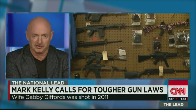 Mark Kelly calls for tougher gun laws