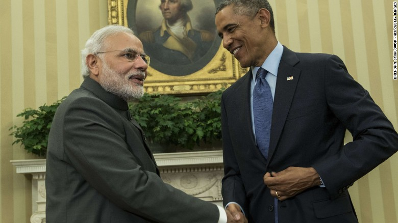 American President visits  world's largest democracy