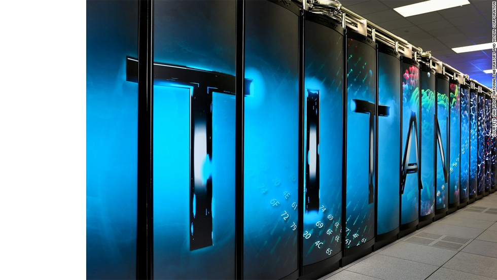 Occupying 4,352 square feet at the U.S. Department of Energy's Oak Ridge National Laboratory, Titan has managed a performance of 17.6 petaflops, making it the world's second-fastest computer.