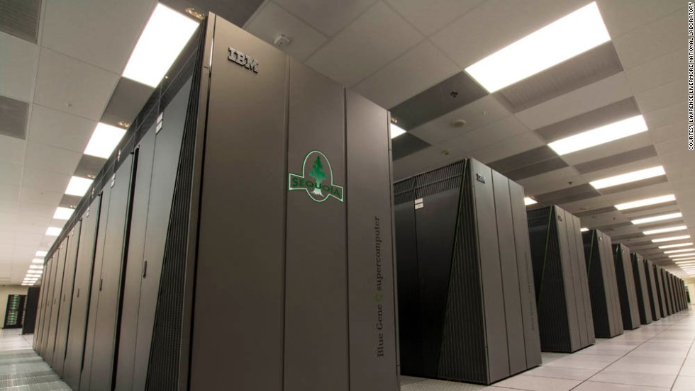 The result of a partnership between Lawrence Livermore National Laboratory and IBM, the 96-rack Sequoia computer clocks in at 16.32 sustained petaflops, making it the current number three on the Top500 list.