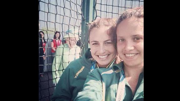 Can you spot Queen Elizabeth II in this selfie?