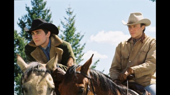 """Brokeback Mountain"": Director Ang Lee, aided by a laconic script from Diana Ossana and Larry McMurtry, turned Annie Proulx's short story about the forbidden love between two Wyoming cowboys into a deeply affecting film. Jake Gyllenhaal and Heath Ledger (especially Ledger) earned raves for their performances, and both Lee and the screenwriters won Oscars."