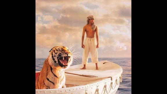 """Life of Pi"": Yann Martel's Booker Prize-winning novel concerns the voyage of a spiritually minded teenage boy drifting across the Pacific with a large tiger named Richard Parker -- or does it? Ang Lee's 2012 film made Martel's ""unfilmable"" novel into an Oscar-nominated success."