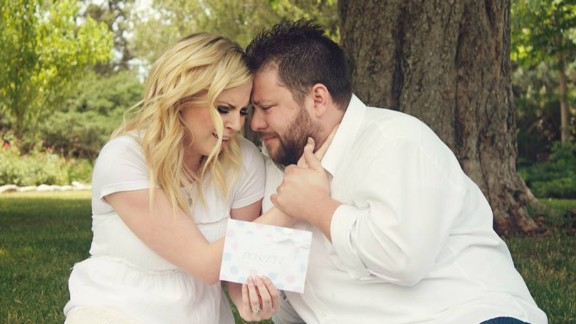 """Looking back on the day of the ultrasound shock is a happy memory for the pair. It was the """"best day of our lives,"""" Ashley Gardner said. """"I still cry when I look at these"""" photos."""