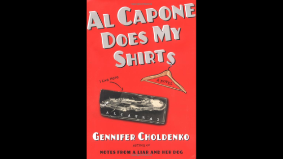 """""""Al Capone Does My Shirts"""" is the first in the """"Al Capone"""" historical series by Gennifer Choldenko. It's set in 1935, when 12-year-old Moose Flanagan gives up playing baseball to take care of his older autistic sister when she is rejected by a school in San Francisco, while their father works as an electrician at the prison on Alcatraz Island."""
