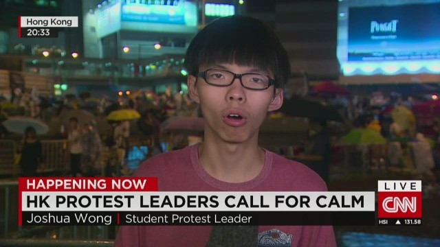 Joshua Wong explains his next steps