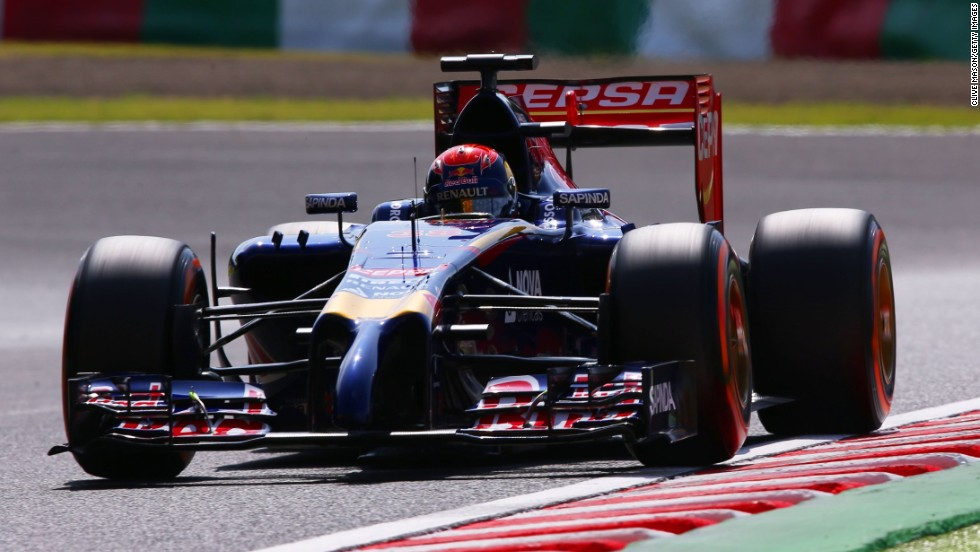 The teenager competed 22 laps before engine failure curtailed his debut F1 drive. His fastest lap of one minute and 38.157 seconds was only 0.443 seconds slower than Toro Rosso's rookie driver Daniel Kvyat