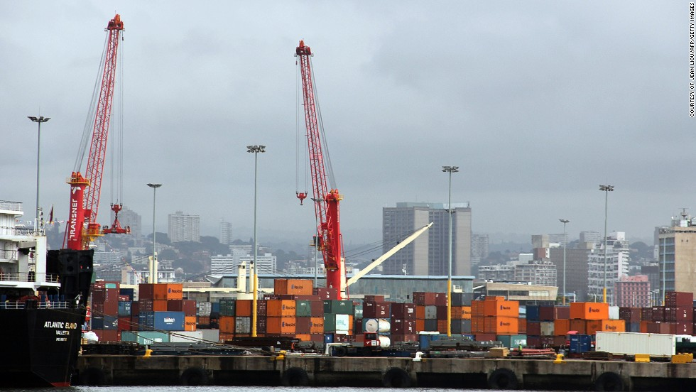 With a capacity of 2.6 million TEU, the port of Durban was the second busiest in Africa last year.