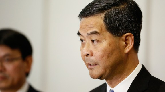 """Hong Kong Chief Executive C.Y. Leung called for his city's residents to be more like """"sheep"""" in 2015."""