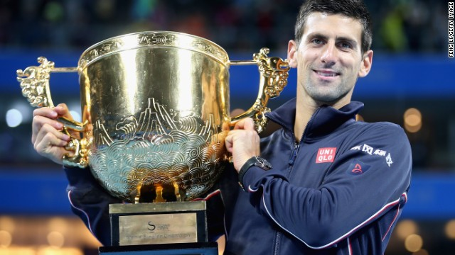 Novak Djokovic gets his hands on the China Open title for the fifth time after thrashing Tomas Berdych in the final.