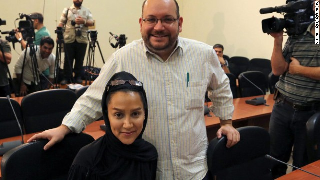 Washington Post journalist Jason Rezaian is shown with his wife, Yeganeh Salehi, in Tehran in September 2013.