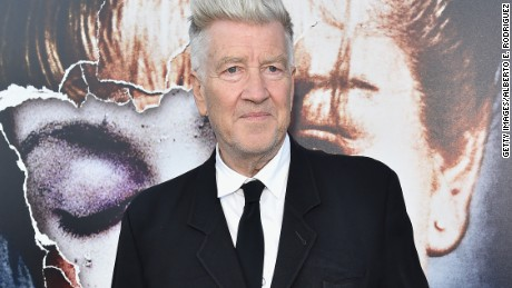 "David Lynch at a party for the premiere of ""Twin Peaks"" on Blu-ray."