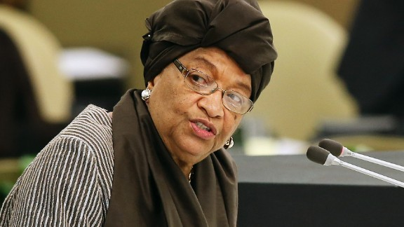 """Liberian President <a href=""""http://www.cnn.com/2014/09/01/world/africa/liberia-ebola-outbreak/"""">Ellen Johnson Sirleaf</a> has been very outspoken about the international community's response to the Ebola outbreak in West Africa. Liberia has had the most cases and deaths of all the countries affected by the outbreak."""