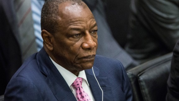 Alpha Conde is the president of Guinea, which has had more than 1,100 cases, including 739 deaths.