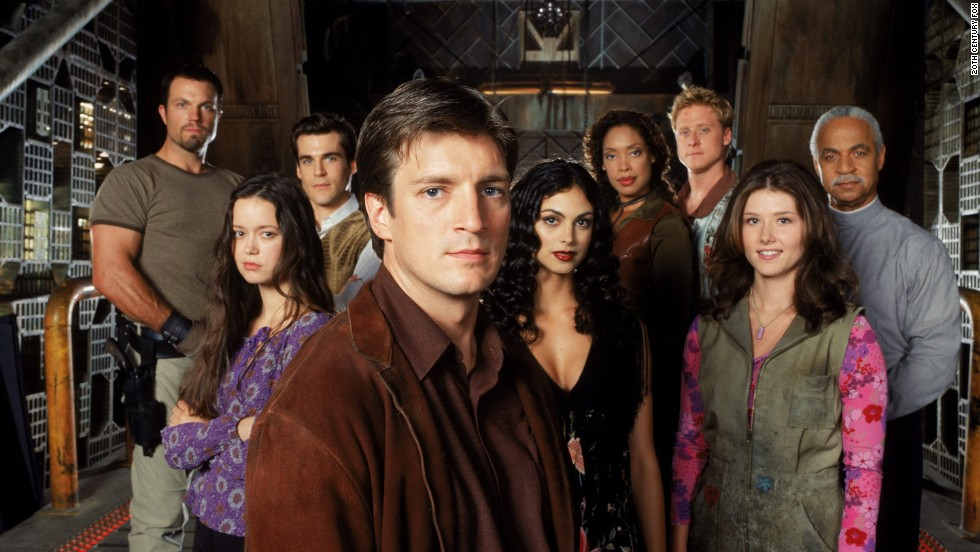 "Fans of Joss Whedon's ""Firefly"" have been begging for a reboot of some sort since the drama went off the air in 2003. Nathan Fillion, center, now stars on ABC's ""Castle."""