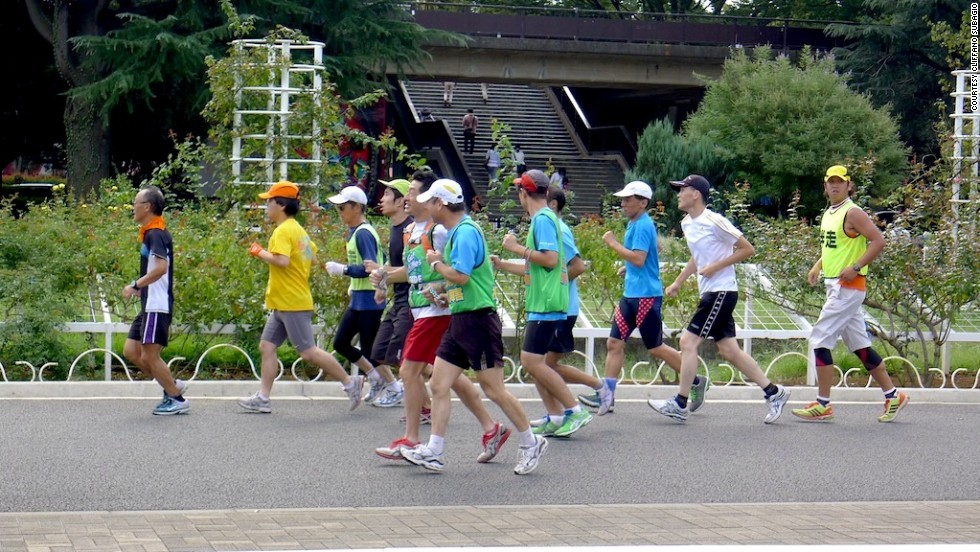 Though temporarily closed, Tokyo's Yoyogi Park is usually open 24 hours a day, making it a popular destination for those in need of a post-work run.