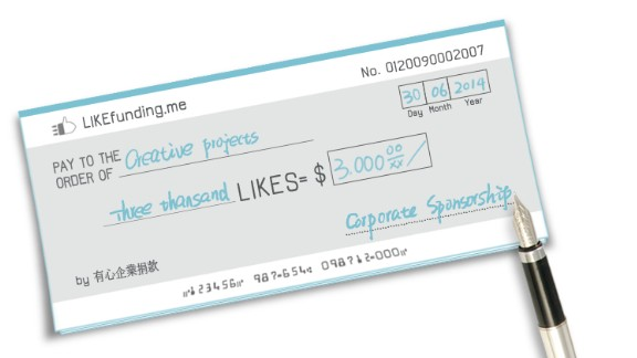 The business model for Likefunding is similar to crowdfunding models where the company takes 10% of the successful funds raised.