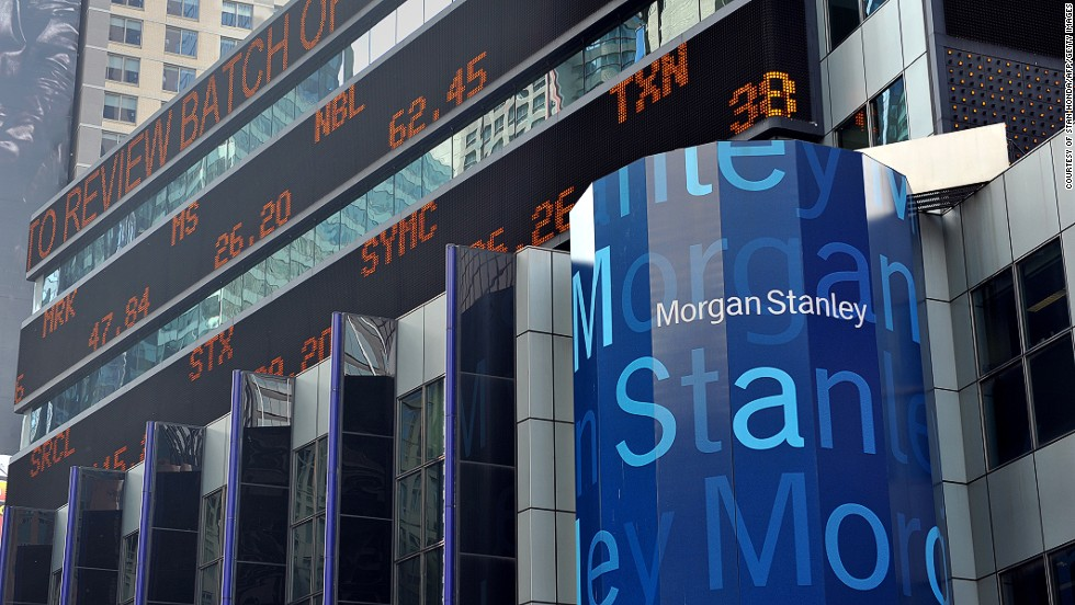 Investment bank, Morgan Stanley, uses statistical models to measure the impact market events have on the bank in real time.
