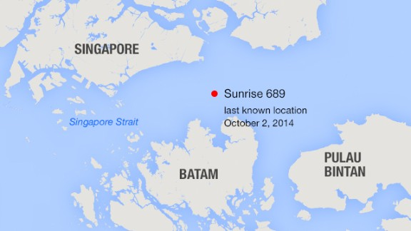 Sunrise 689 went missing 40 minutes after leaving Singapore on October 2, VNS reported.