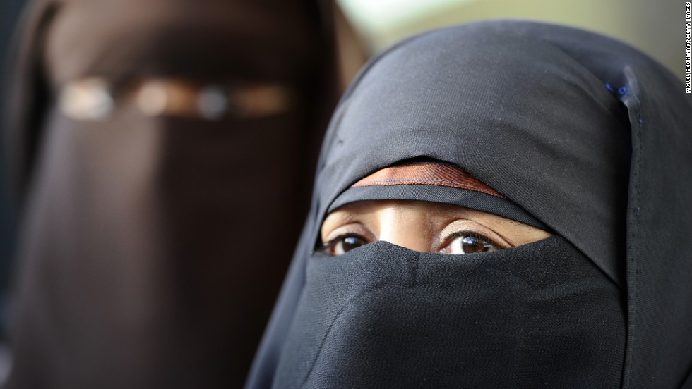 The niqab is a veil that covers the face but has an opening for the eyes.