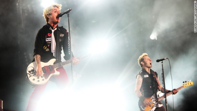 Billie Joe Armstrong and Mike Dirnt of Green Day.