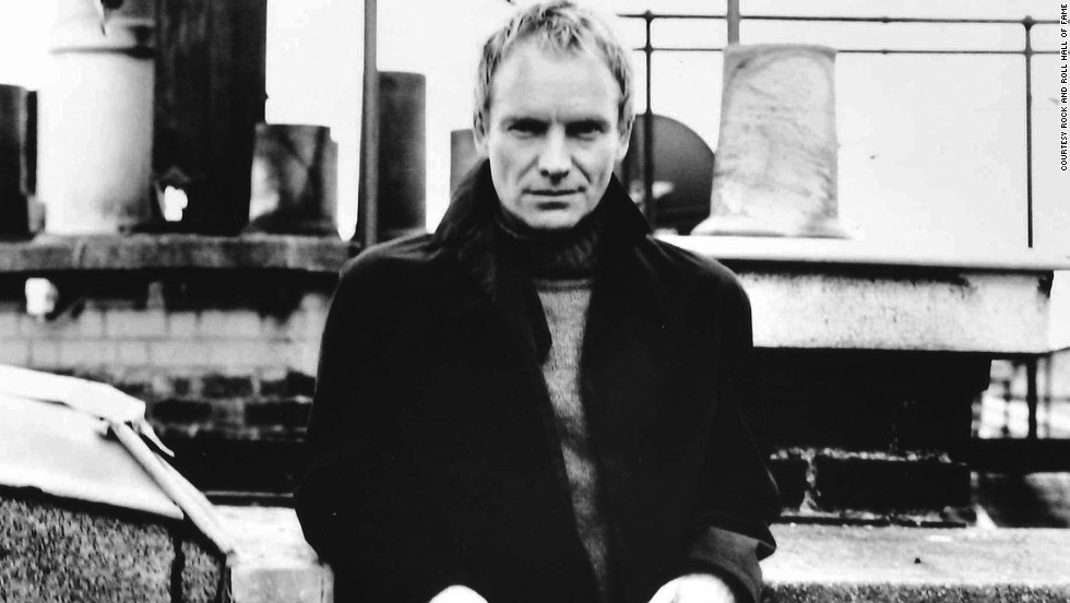 "Sting first broke through as a member of the Police (inducted in 2003). As a solo artist, his albums include ""The Dream of the Blue Turtles"" and ""The Soul Cages."" His musical, ""The Last Ship,"" is scheduled to premiere on Broadway on October 26."