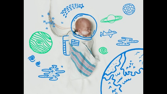 Children's Healthcare of Atlanta doodled bright futures for babies in their neonatal intensive care unit. As of October 6, this future astronaut is at home with his family, while the rest of the dreamers are still in the hospital's care.