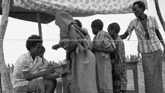 Refugees are registered in Somalia in November 1981. The Nobel Peace Prize that year was awarded to the United Nations