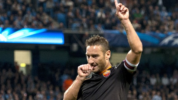 Francesco Totti is a Roma legend and the 38-year-old has spent his entire career with the club.