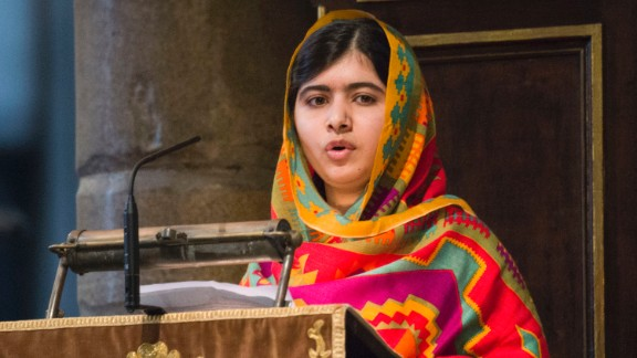 LONDON, ENGLAND - MARCH 10:  Malala Yousafzai speaks as she attends the Commonwealth day observance service at Westminster Abbey on March 10, 2014 in London, England.  (Photo by Arthur Edwards - WPA Pool/Getty Images)