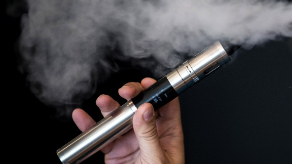 Liquid nicotine is used in e-cigarettes, producing a vapor that's inhaled.