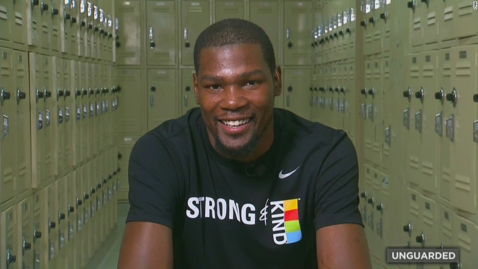 """The only thing I wanted to do was to show love to everybody who helped me get to that point,"" Durant later told CNN. ""I knew it wasn't all (just) me that got there."""